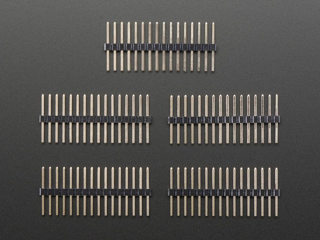 Extra-long break-away 0.1 16-pin strip male header (5 pieces) ADA400 Adafruit in Australia - Express Delivery Australia Wide (Image 3)