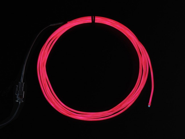 High Brightness Pink Electroluminescent (EL) Wire - 2.5 meters - High brightness, long life ADA404 Adafruit in Australia - Express Delivery Australia Wide (Feature image)