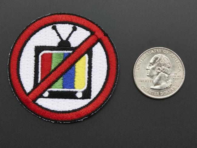 TV-B-Gone, Skill badge, iron-on patch ADA470 Adafruit Australia (Feature image)
