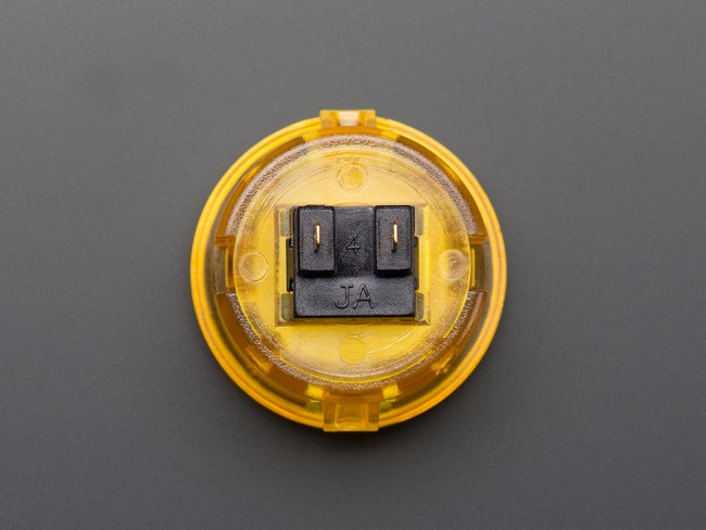 Arcade Button - 30mm Translucent Yellow ADA474 Adafruit in Australia - Express Delivery Australia Wide (Image 2)