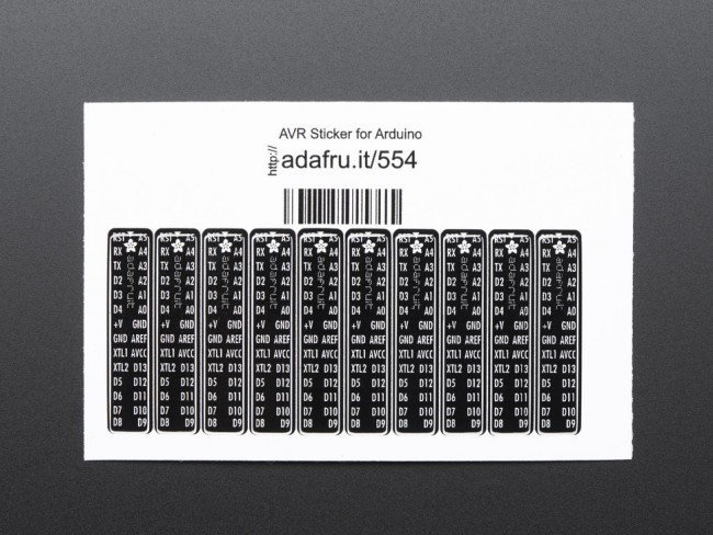 Adafruit AVR Sticker for Breadboard Arduino-compatibles - 10 pcs ADA554 Adafruit in Australia - Express Delivery Australia Wide (Image 2)