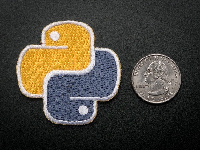 Python - Skill badge, iron-on patch ADA750 Adafruit in Australia - Express Delivery Australia Wide (Feature image)
