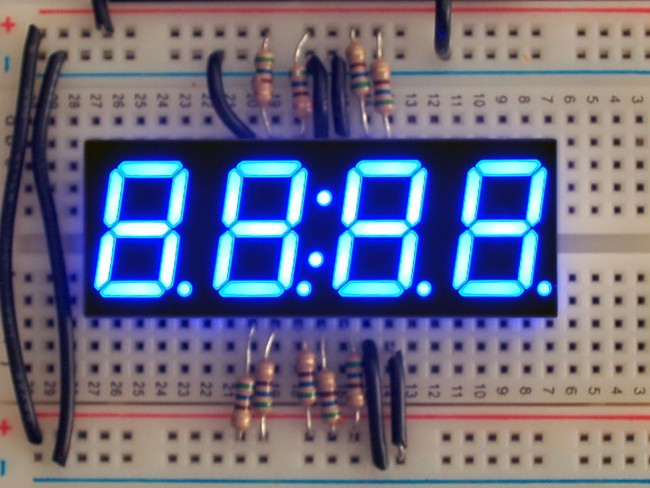 Blue 7-segment clock display - 0.56 digit height ADA812 Adafruit in Australia - Express Delivery Australia Wide (Feature image)