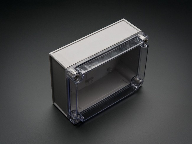 Large Plastic Project Enclosure - Weatherproof with Clear Top ADA905 Adafruit in Australia - Express Delivery Australia Wide (Image 3)