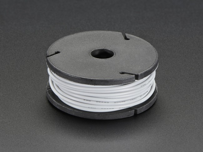 Silicone Cover Stranded-Core Wire - 25ft 26AWG - Gray ADA2519 Adafruit in Australia - Express Delivery Australia Wide (Feature image)
