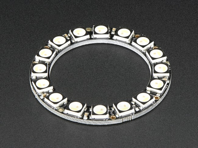 NeoPixel Ring - 16 x 5050 RGBW LEDs w/ Integrated Drivers - Cool White - ~6000K ADA2856 Adafruit in Australia - Express Delivery Australia Wide (Image 2)