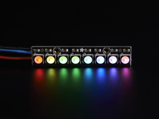 NeoPixel Stick - 8 x 5050 RGBW LEDs - Warm White - ~3000K ADA2867 Adafruit in Australia - Express Delivery Australia Wide (Feature image)