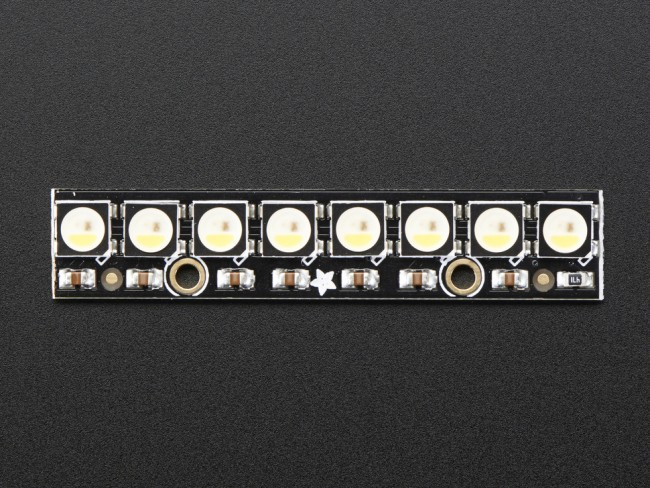 NeoPixel Stick - 8 x 5050 RGBW LEDs - Natural White - ~4500K ADA2868 Adafruit in Australia - Express Delivery Australia Wide (Image 3)