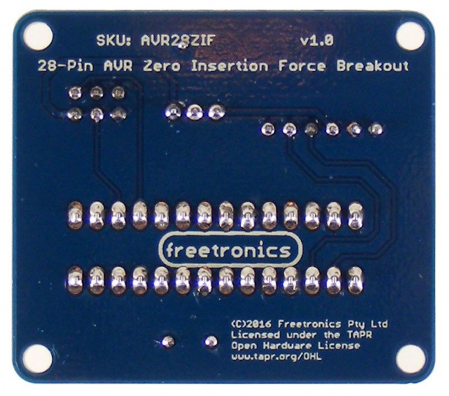 Freetronics Zero Insertion Force (ZIF) Breakout for 28-Pin AVR CE04529 Freetronics Australia (Image 3)