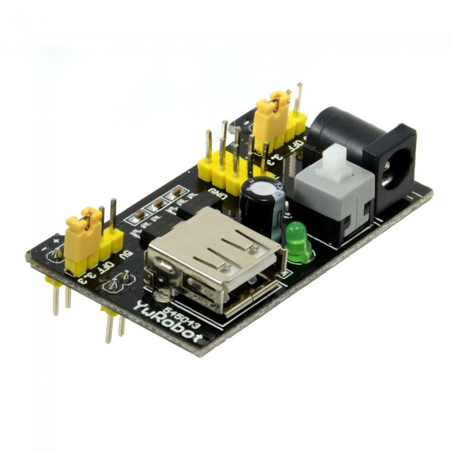 3.3V + 5V Solderless Breadboard Power Supply Module Adaptor CE05111 (Feature image)