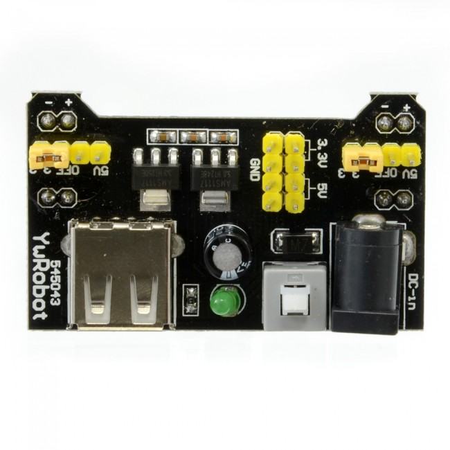 3.3V + 5V Solderless Breadboard Power Supply Module Adaptor 018-MB102PWR  (Image 3)