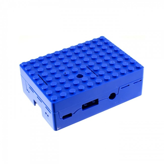 Blue Building Block Case for Raspberry Pi 3+ CE04867 (Feature image)
