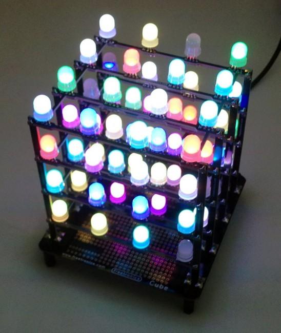 Freetronics 4x4x4 RGB LED Cube CE04558 Freetronics Australia (Feature image)