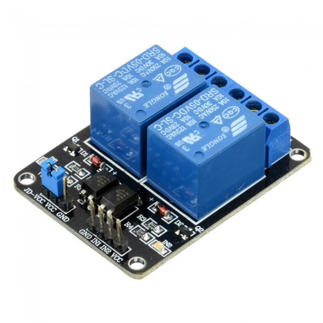 5V 2 Channel Relay Module 10A 018-DB-DUALRELAY  (Image 2)