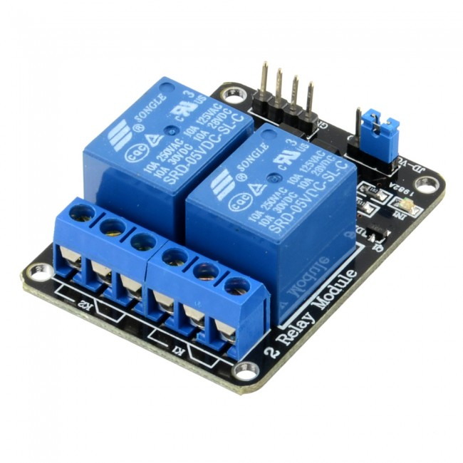 5V 2 Channel Relay Module 10A 018-DB-DUALRELAY  (Image 1)