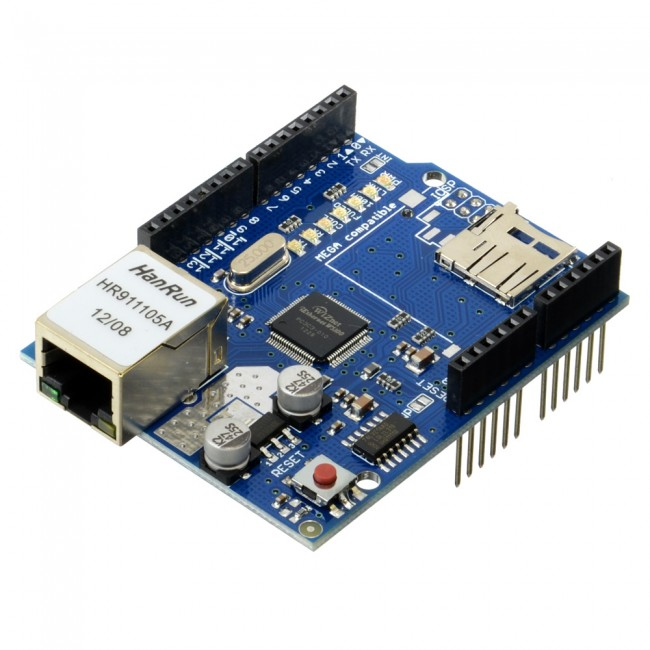 W5100 Ethernet + SD Card Shield (Arduino Compatible) CE05307 (Feature image)