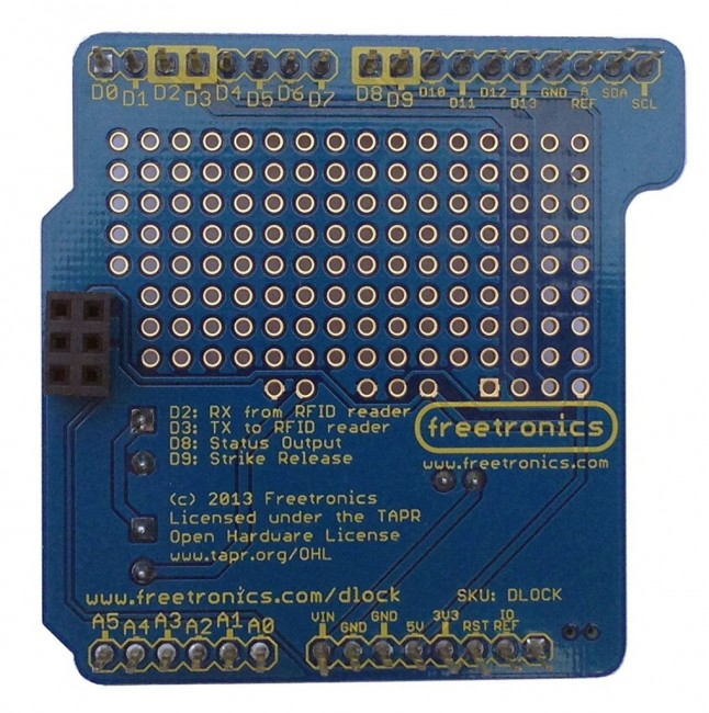 Freetronics RFID Door Lock Shield CE04568 Freetronics Australia (Image 3)