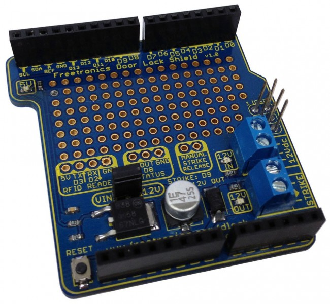 Freetronics RFID Door Lock Shield CE04568 Freetronics Australia (Feature image)