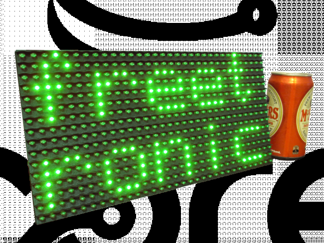 Freetronics DMD: Dot Matrix Display 32x16 Green CE04539 Freetronics Australia (Feature image)