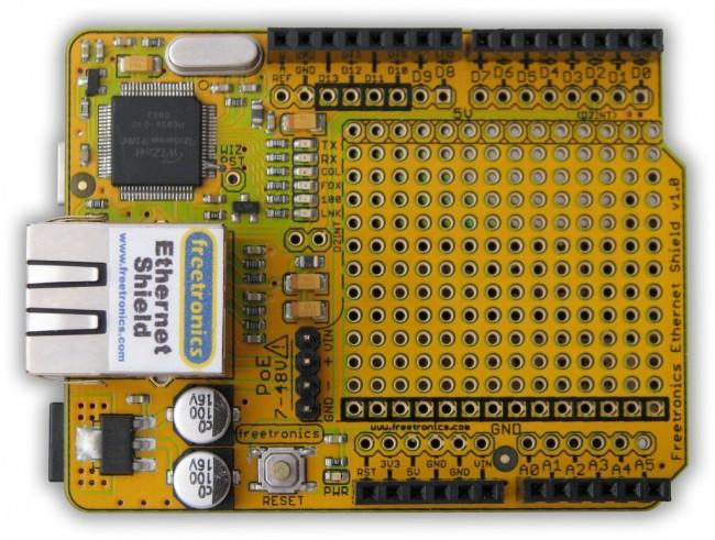 Freetronics Ethernet Shield With PoE CE04492 Freetronics Australia (Feature image)