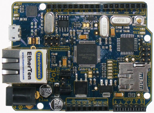 Freetronics EtherTen (100% Arduino compatible with onboard Ethernet) CE04487 Freetronics Australia (Feature image)