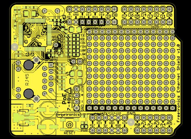 Freetronics Ethernet Shield With PoE CE04492 Freetronics Australia (Image 5)