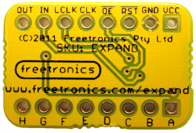 Freetronics Expansion / Shift Register Module CE04537 Freetronics Australia (Image 3)