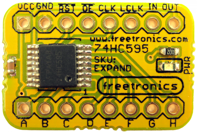 Freetronics Expansion / Shift Register Module CE04537 Freetronics Australia (Image 2)