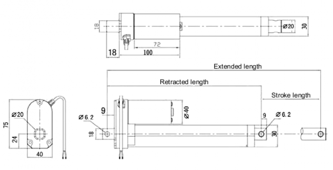 "Generic Linear Actuator with Feedback: 4"" Stroke, 12V, 1.5""/s POLOLU-2345 Pololu Australia - Express Delivery Australia Wide (Image 4)"