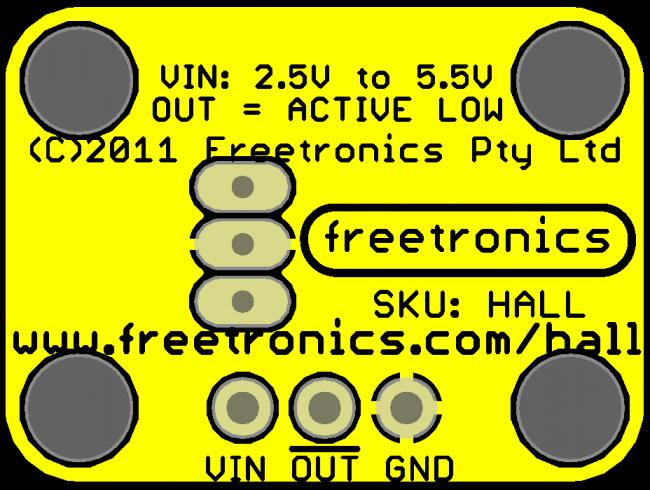 Freetronics Hall Effect Magnetic and Proximity Sensor Module CE04534 Freetronics Australia (Image 5)