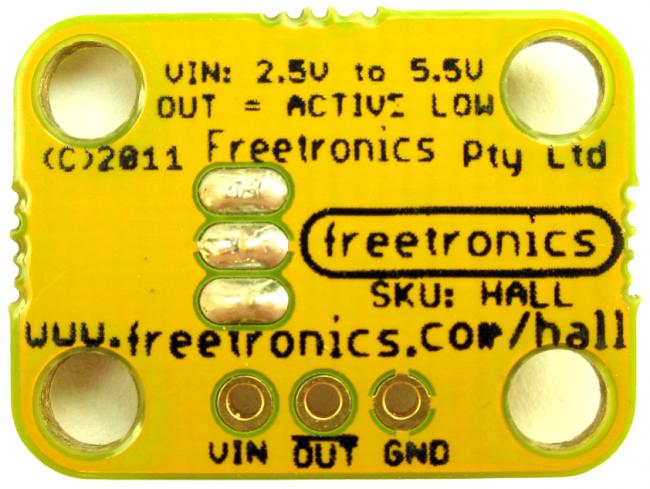 Freetronics Hall Effect Magnetic and Proximity Sensor Module CE04534 Freetronics Australia (Image 3)