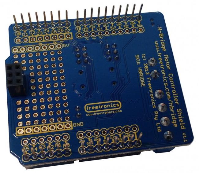 Freetronics HBRIDGE Dual Channel H-Bridge Motor Driver Shield CE04566 Freetronics Australia (Image 2)
