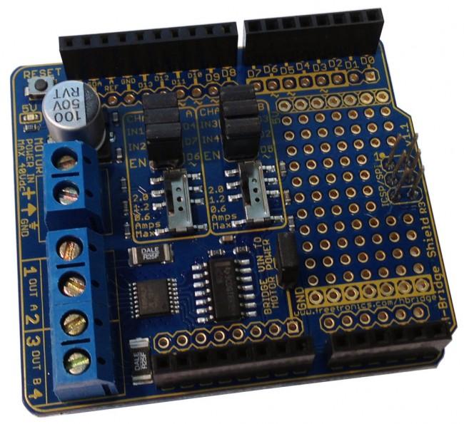 Freetronics HBRIDGE Dual Channel H-Bridge Motor Driver Shield CE04566 Freetronics Australia (Feature image)