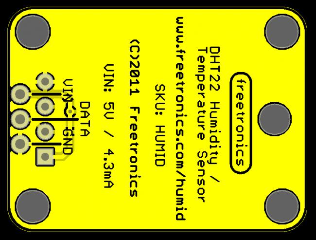Freetronics Humidity and Temperature Sensor Module CE04533 Freetronics Australia (Image 3)