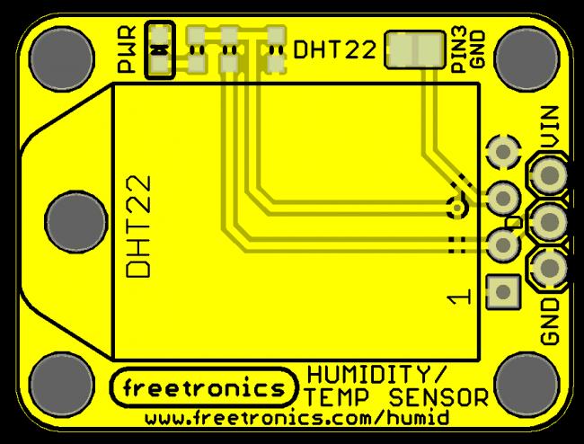 Freetronics Humidity and Temperature Sensor Module CE04533 Freetronics Australia (Image 2)