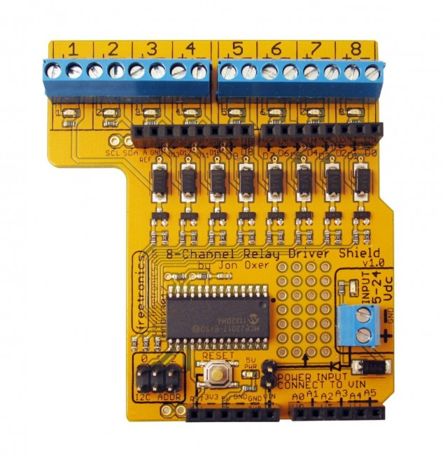 Freetronics 8-Channel Relay Driver Shield CE04549 Freetronics Australia (Image 3)