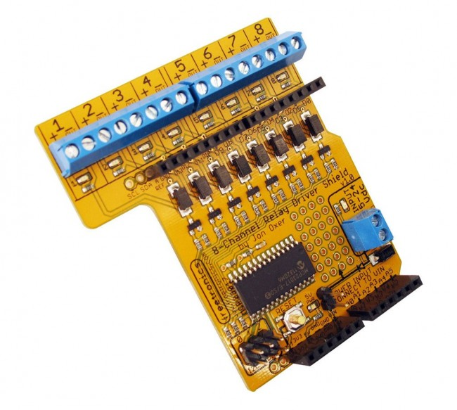 Freetronics 8-Channel Relay Driver Shield CE04549 Freetronics Australia (Feature image)