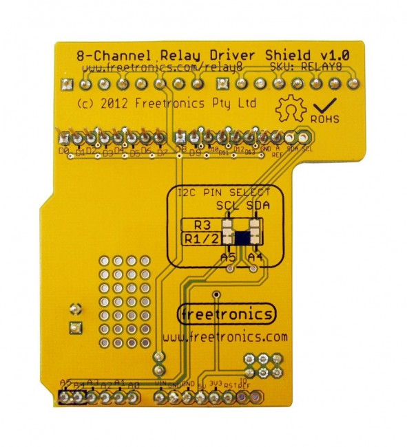 Freetronics 8-Channel Relay Driver Shield CE04549 Freetronics Australia (Image 4)