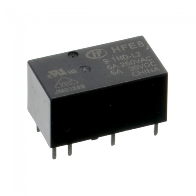 2 Coil Latching Relay 9V 5A 003-LATCHREL9V  (Image 1)