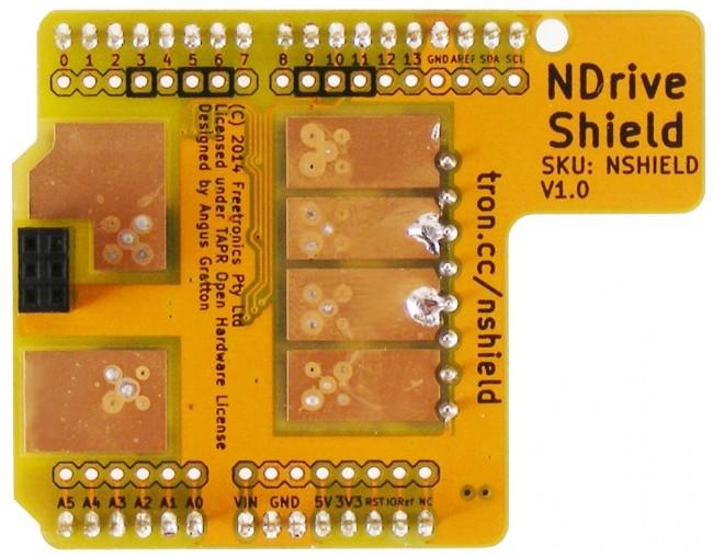 Freetronics N-Drive Shield CE04519 Freetronics Australia (Image 3)