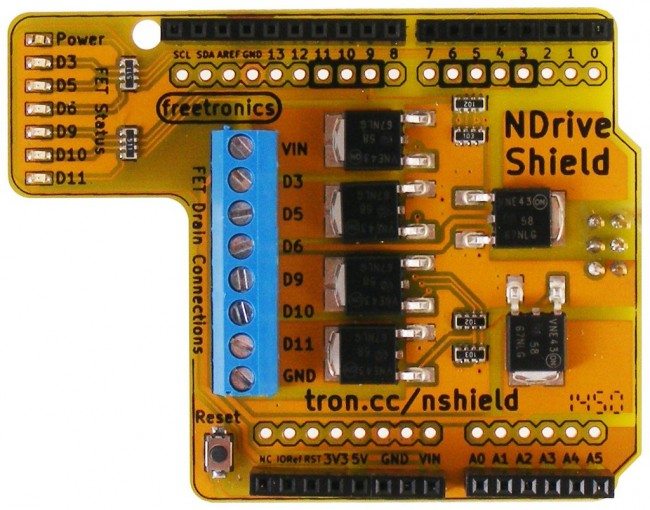 Freetronics N-Drive Shield CE04519 Freetronics Australia (Image 2)
