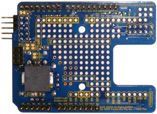 Freetronics OLED Shield LCD Adapter CE04505 Freetronics Australia (Image 3)