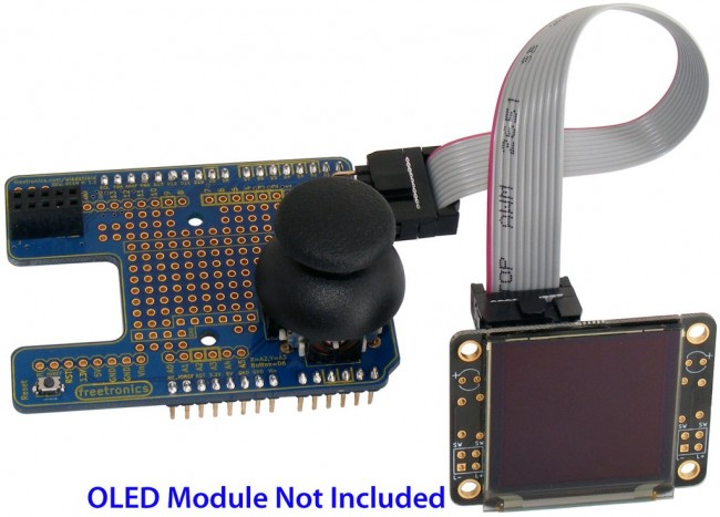 Freetronics OLED Shield LCD Adapter CE04505 Freetronics Australia (Image 4)
