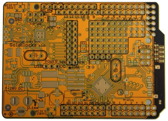 Freetronics Goldilocks: Arduino Compatible with ATmega1284P MCU CE04565 Freetronics Australia (Image 2)