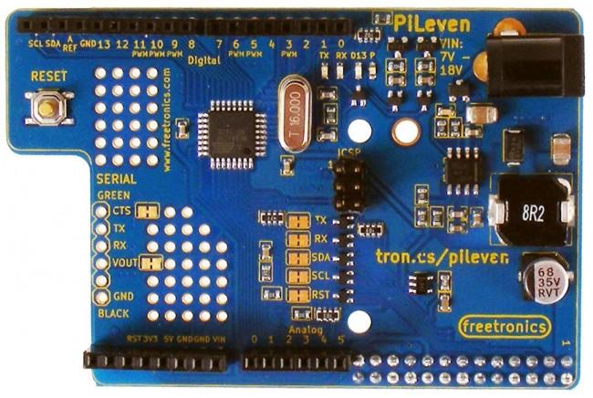 Freetronics PiLeven Arduino Compatible Expansion for Raspberry Pi CE04506 Freetronics Australia (Feature image)