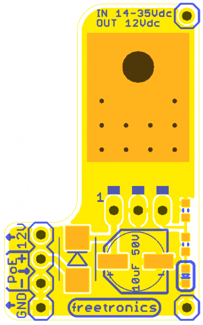 Freetronics Power-over-Ethernet Regulator 14-24V CE04500 Freetronics Australia (Image 4)