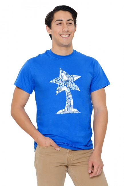 Pololu Circuit Logo T-shirt - Royal Blue - Youth XS POLOLU-3000 Pololu Australia - Express Delivery Australia Wide (Image 5)
