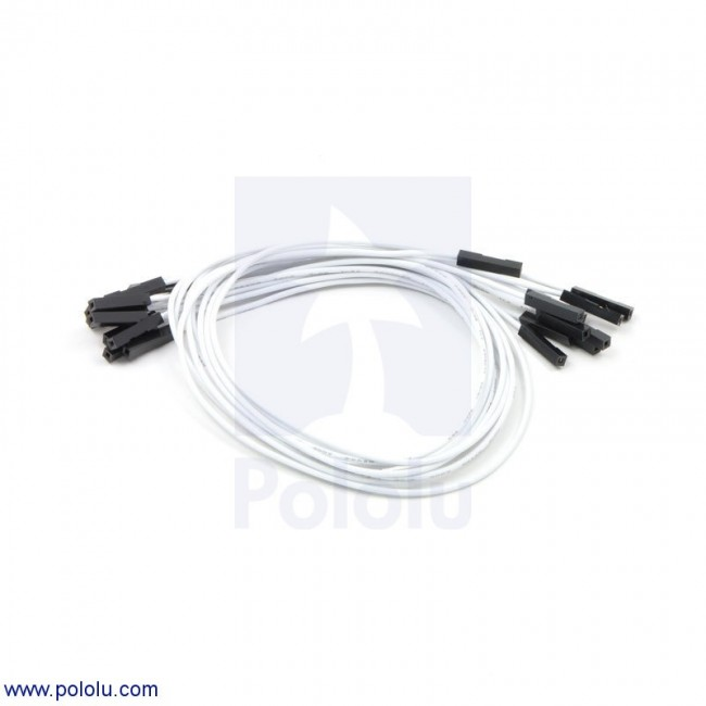 "Premium Jumper Wire 10-Pack F-F 12"" White POLOLU-1749 Pololu Australia - Express Delivery Australia Wide (Feature image)"