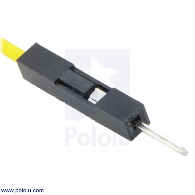 "Premium Jumper Wire 10-Pack M-M 12"" Yellow POLOLU-1764 Pololu Australia - Express Delivery Australia Wide (Image 2)"