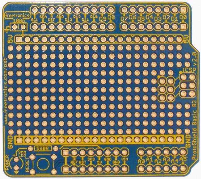 Freetronics ProtoShield Basic for Arduino CE04494 Freetronics Australia (Image 2)